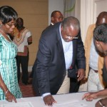 Ambassador of Nigeria to Kenya and Wife registering at the African Women of Influence Awards Dinner 2012