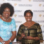 Dr Ida Odinga and Rt. Hon. Anne Makinda during the African Women of Influence Awards 2012