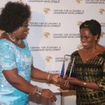Dr. Ida Odinga presenting The African Influential Amazon Award 2012 to Rt. Hon. Anne S. Makinda (MP), The Speaker of the National Assembly of Tanzania