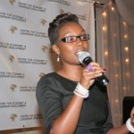 Master of Ceremony, Ms Nancy at the 2012 African Women of Influence Awards