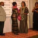 Rt. Hon. Anne Makinda presenting The African Most Outstanding Female Professional Award to Dr.  Jacqueline Kitulu
