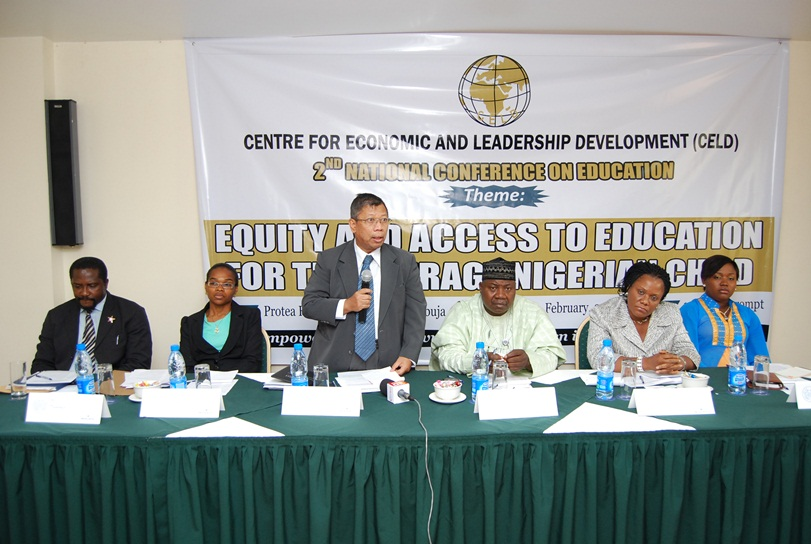The High Commissioner of Malaysia in Nigeria, giving his goodwill message  Center for Economic and Leadership Development (CELD)