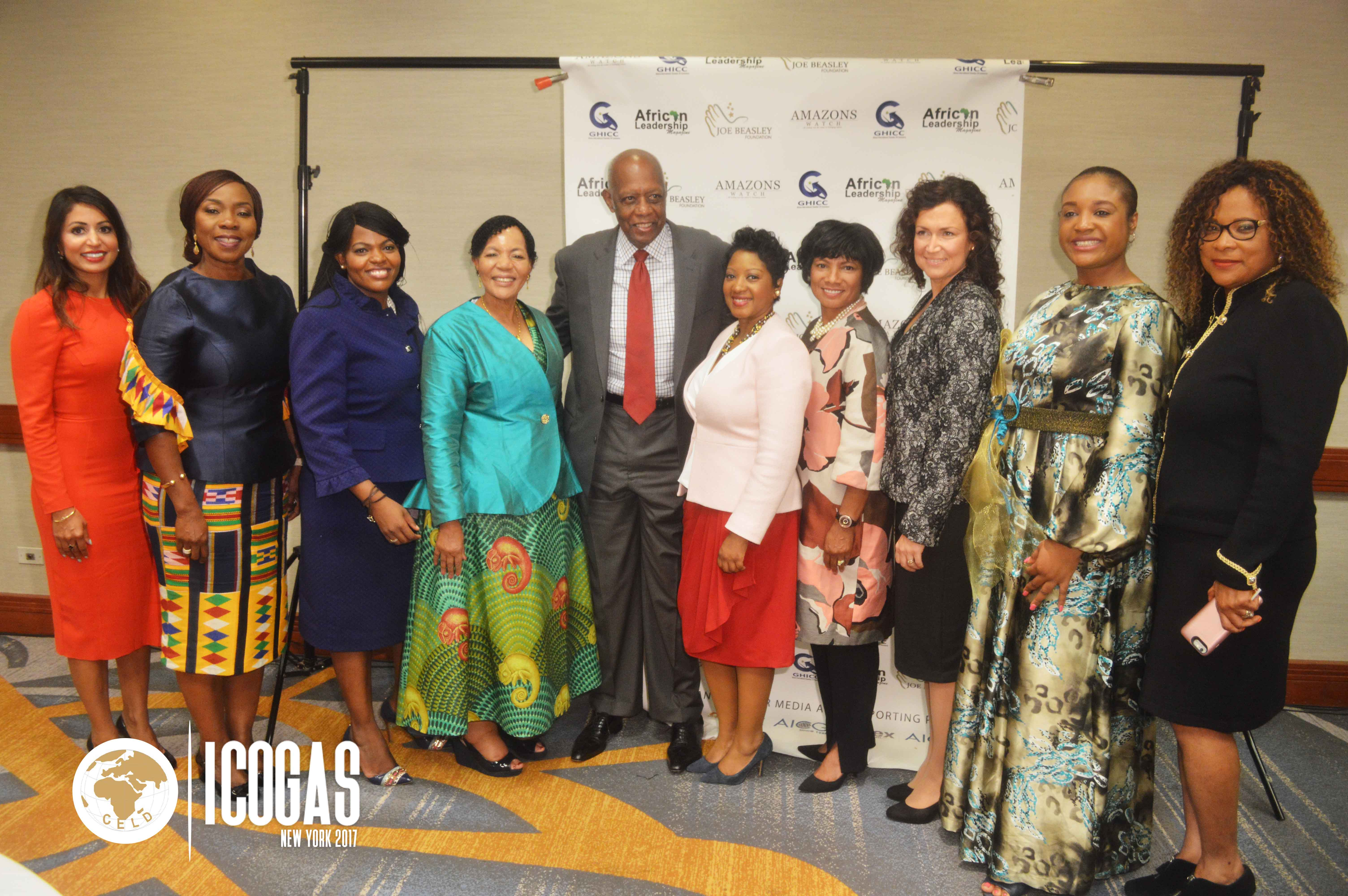 Amb. Joe Beasley and Awadees at ICOGAS 2017
